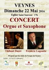 Veynes affiche concert orgue et saxophone 2016-001